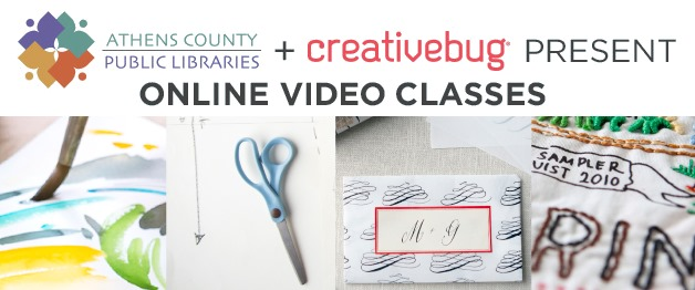 Arts and crafts video classes from Creativebug
