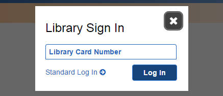 Database login with library card number