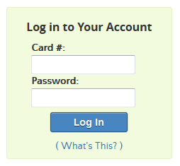 Library home page account login form
