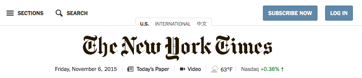 New York Times login link